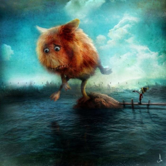 Даже монстры иногда должны купаться. Автор: Александр Янссон (Alexander Jansson).