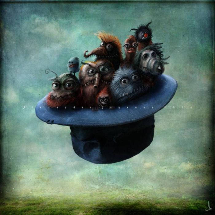 Монстры в летающей шляпе. Автор: Александр Янссон (Alexander Jansson).