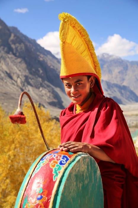 Молодий чернець, Монастир диски, Ладакх, Індія.  Автор: Олександр Хомишина.