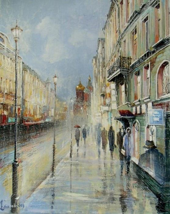 В Петербурге сегодня дожди. Автор: Александр Стародубов.