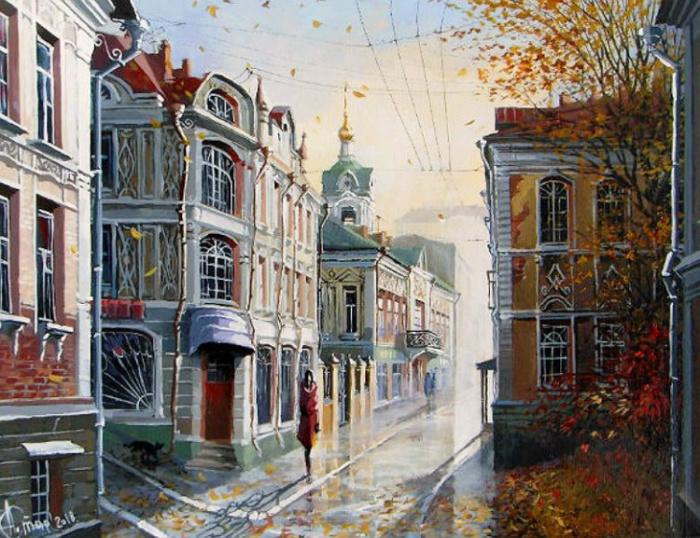 Прогулка. Осень. Автор: Александр Стародубов.