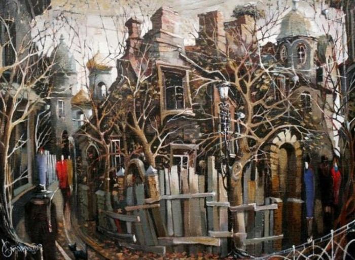 Булгаковское настроение: Москва глазами современного художника Александра Стародубова