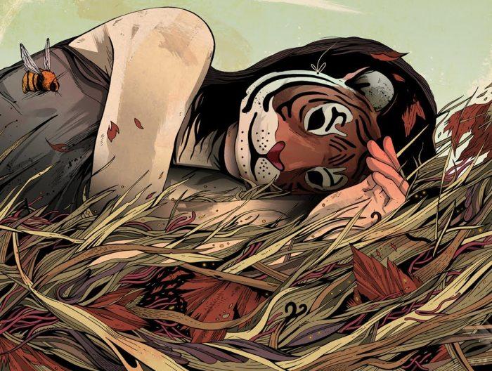 Тигр в высокой траве. Автор: Alexander Wells.