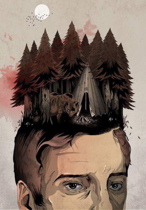 Обратная сторона леса. Автор: Alexander Wells.