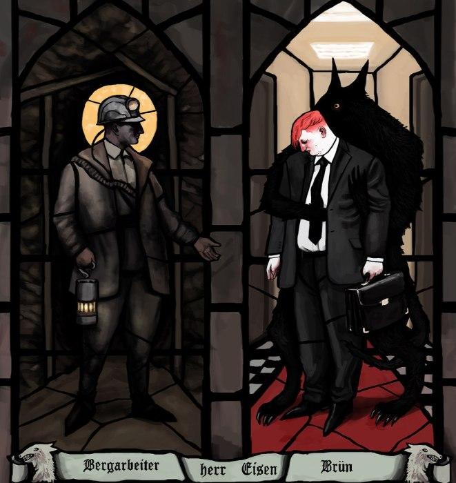 Шахтёр, Айзен и м-р Брюн. Автор: Александра Железнова.