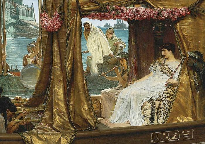 Встреча Антония и Клеопатры, сэр Лоуренс Альма-Тадема, 1885 год. \ Фото: thehistorianshut.com.