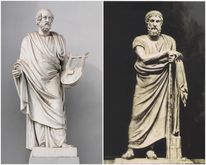 Гомер — древнегреческий поэт-сказитель, создатель эпических поэм «Илиада» и «Одиссея».