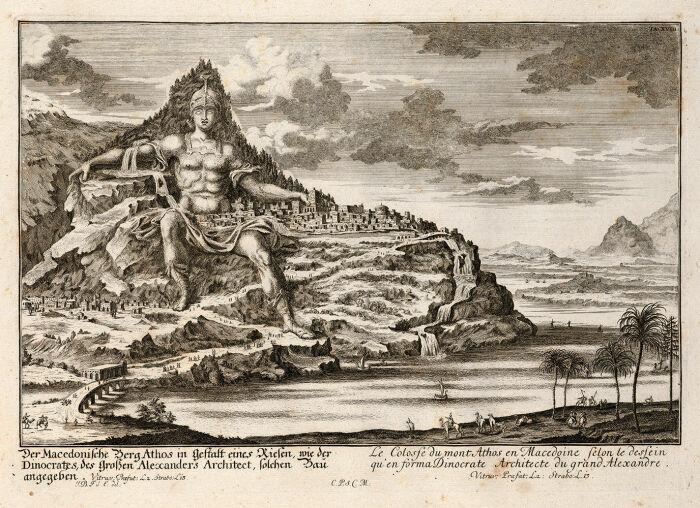 Памятник Александру Великому, гравюра по рисунку Иоганна Бернхарда Фишера фон Эрлаха. \ Фото: wikipedia.org.