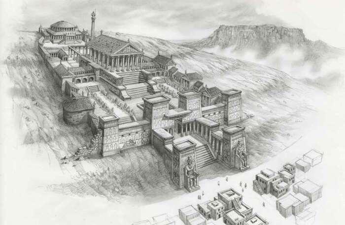 Исторический набросок Великой Александрийской библиотеки. \ Фото: akt-uk.com.
