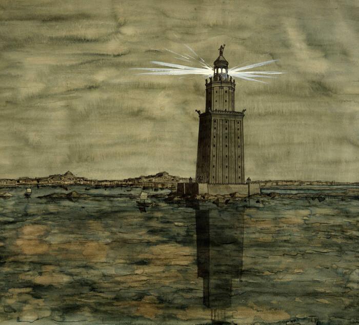 Ночной маяк, Жан-Клод Голвин. \ Фото: google.com.
