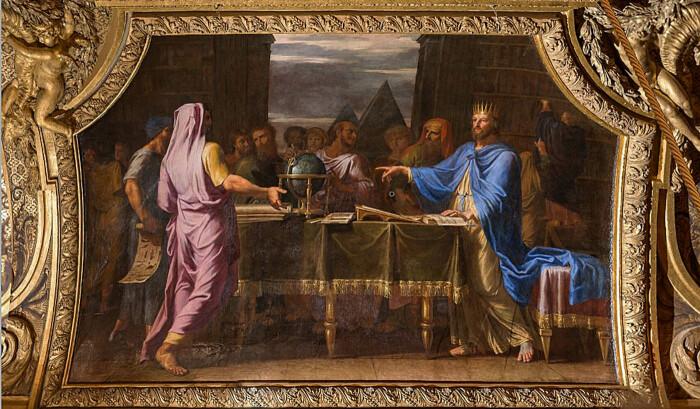 Птолемей II беседует с еврейскими учеными в Александрийской библиотеке, Жан-Батист де Шампань, 1627 год. \ Фото: google.com.