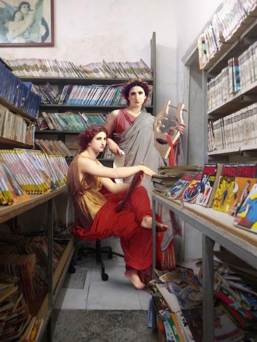 Дамы в магазине комиксов. Автор: Алексей Кондаков.