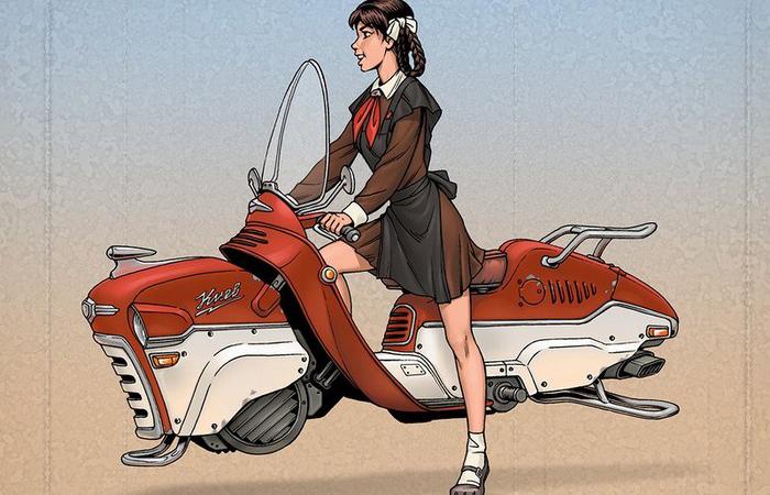 Российский художник создаёт иллюстрации в стиле дизельпанк: Смесь пинапа, советского прошлого и фантастической техники