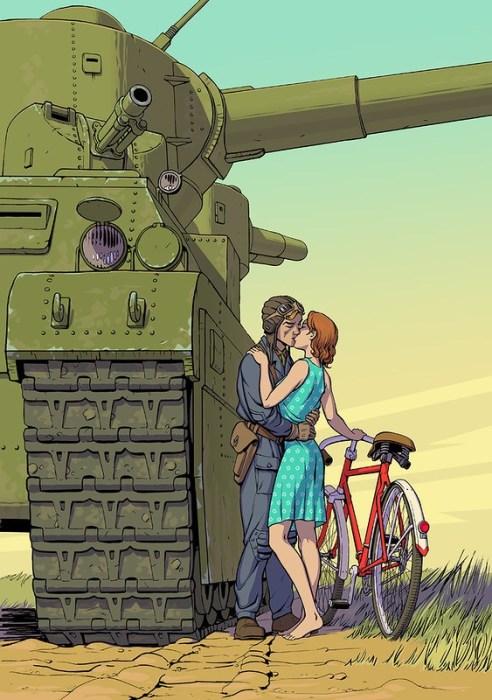 Велосипед и танк. Автор: Алексей Липатов.