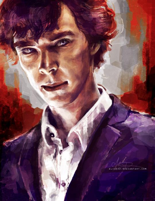 Шерлок Холмс собственной персоной. Автор: Alice X. Zhang.