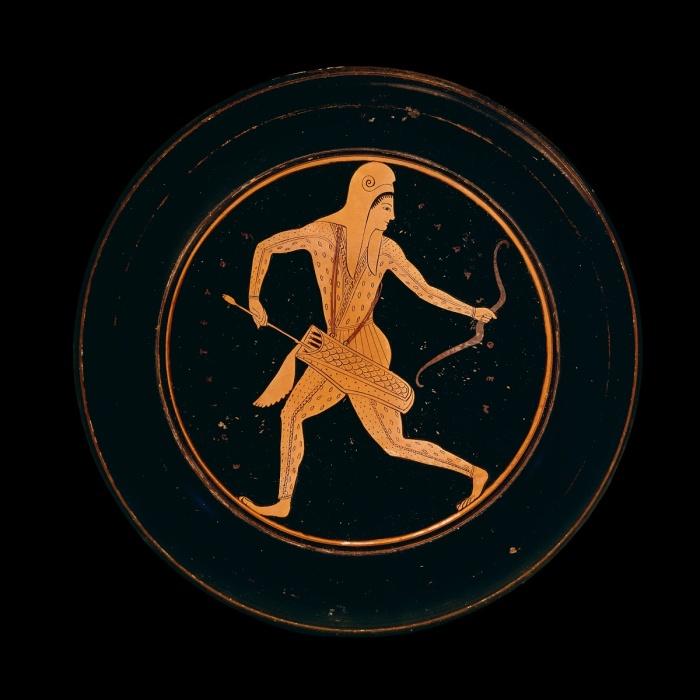 Пластина, изображающая скифскую женщину-лучницу, приписываемую Эпиктету, ок. 520-500 до н. э. \ Фото: artsandculture.google.com.