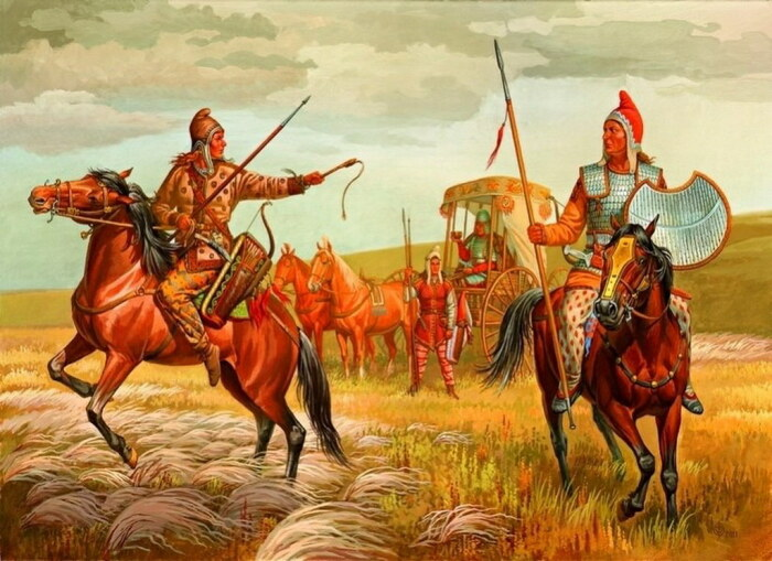Скифские воины в степях Придонья, IV век до нашей эры, Олег Федоров. \ Фото: flickr.com.