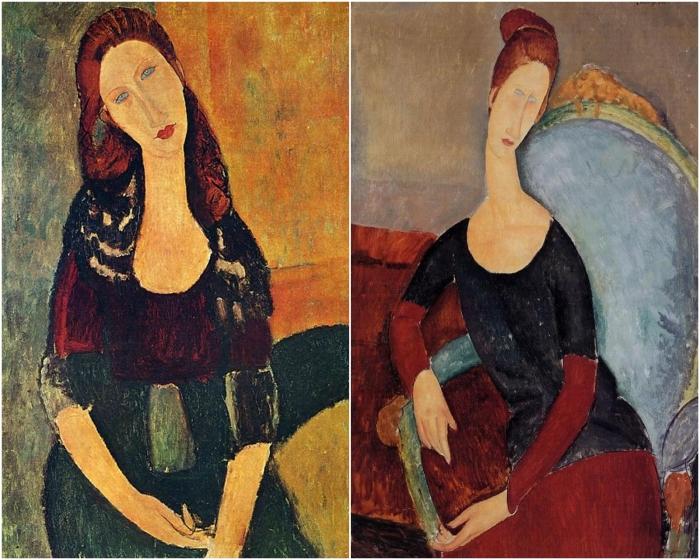 Портреты Жанны Эбютерн. \ Фото: google.com.