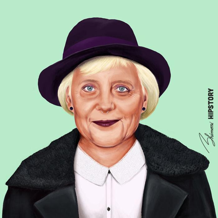 Ангела Меркель. Автор: Amit Shimoni.