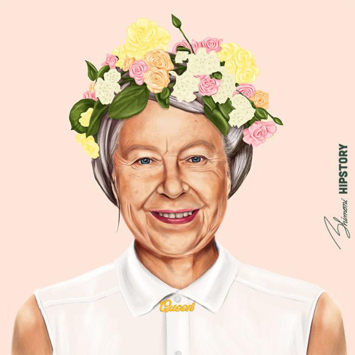 Королева Елизавеета II. Автор: Amit Shimoni.