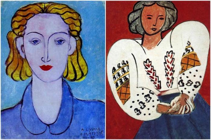 Слева: «Голубые глаза». \ Справа: «Румынская блуза». \ Фото: artchive.ru.