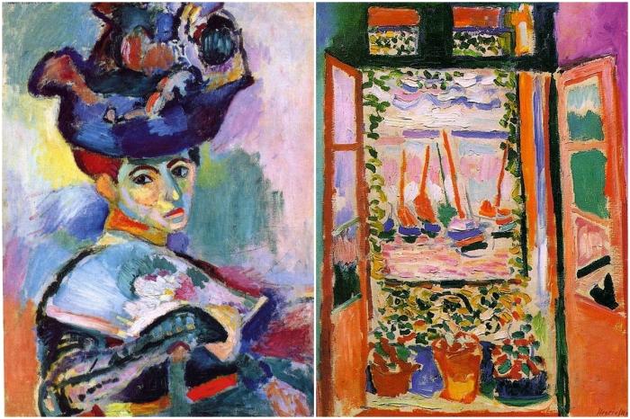 Слева: «Женщина в шляпе». \ Справа: «Открытое окно, Коллиур». \ Фото: google.com.