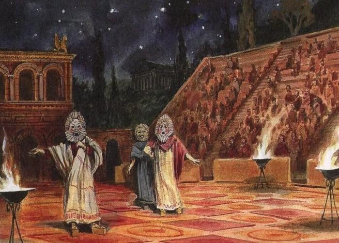 Актёры Античного театра. \ Фото: google.com.ua.
