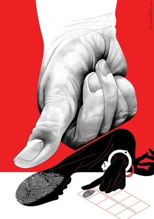 Системный расизм. Автор: Andre Carrilho.