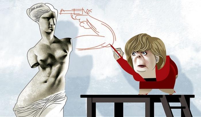 План Меркель. Автор: Andre Carrilho.