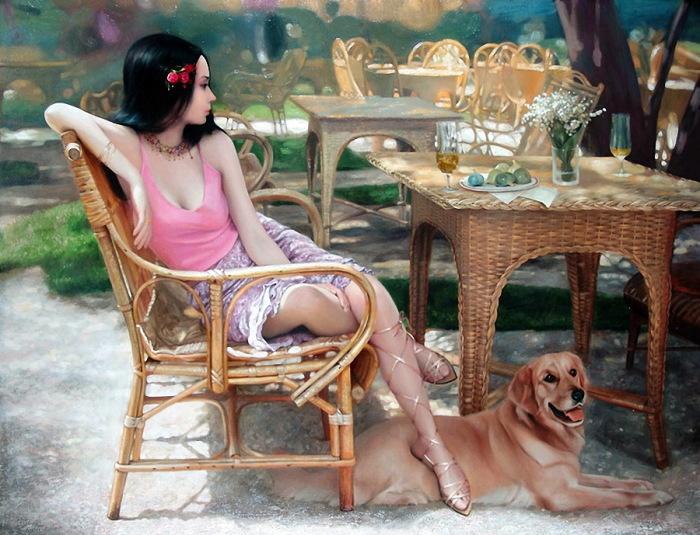 Уютное кафе на улицах с плетённой мебелью. Авторы: Андрей Беличенко и Мария Бухтиярова.