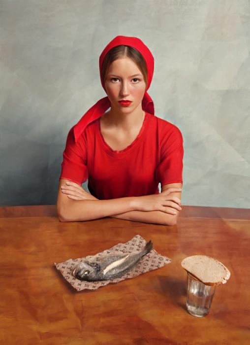 Девушка с рыбкой. Снимки Андрея Яковлева (Andrey Yakovlev).