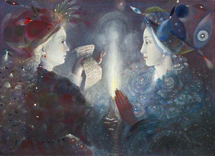 Зажжённая свеча. Автор: Анелия Павлова.