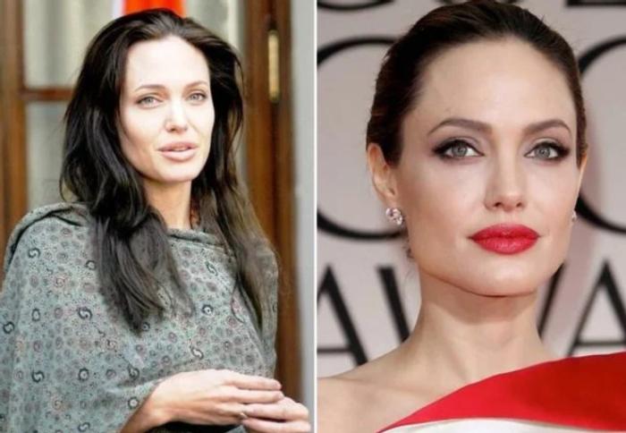 Джоли в жизни и на экране. \ Фото: stylesatlife.com.
