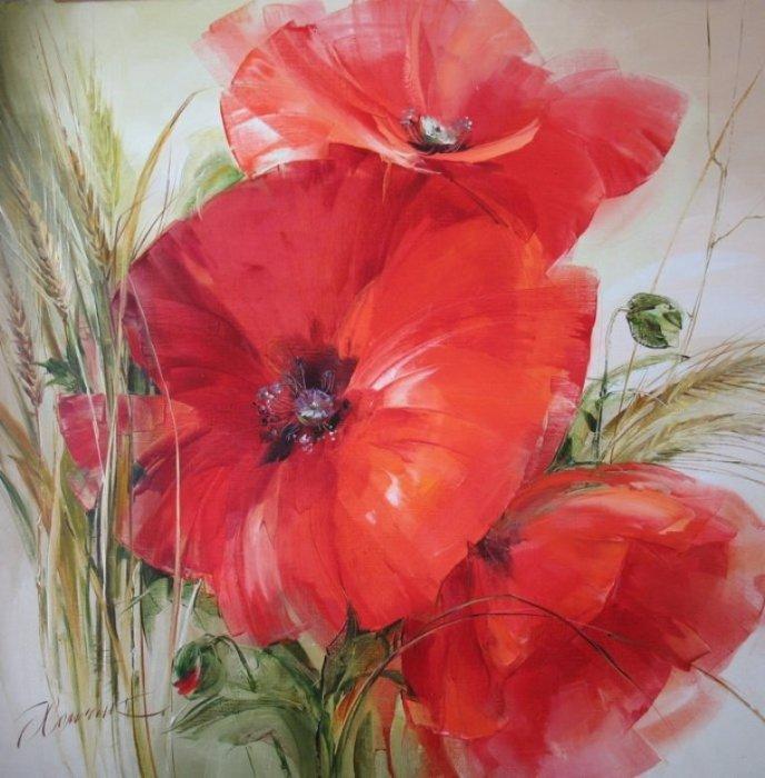 Украинская художница пишет яркие картины, на которых оживают самые разные цветы