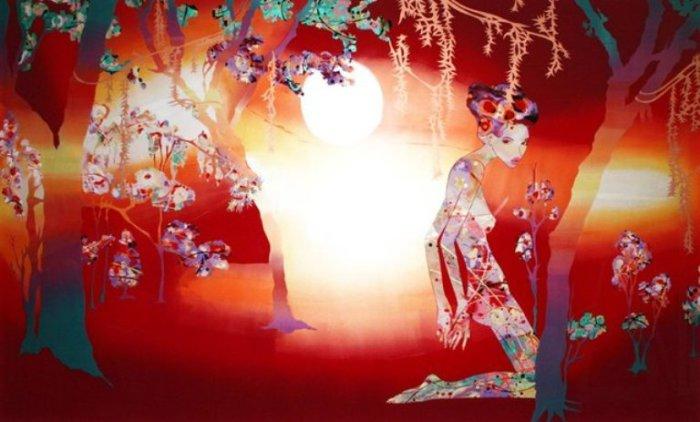 Минха в таинственном лесу.  Автор: Annabelle Verhoye.
