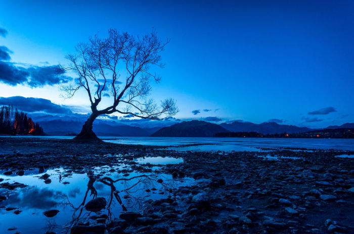 Ванака. Синий свет (Wanaka Blue Light). Автор фото: Энтони Харрисон (Anthony Harrison).