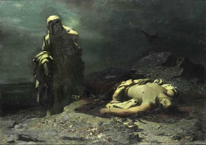 Антигона и Полиник, Никифорос Литрас, 1865 год. \ Фото: nationalgallery.gr.