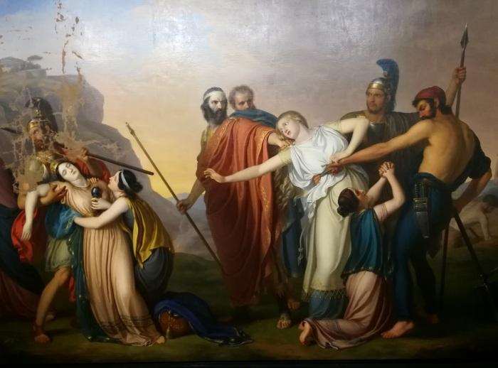 Антигона, приговорённая Креоном к смертной казни, Джузеппе Диотти, 1845 год. \ Фото: de.wikipedia.org.