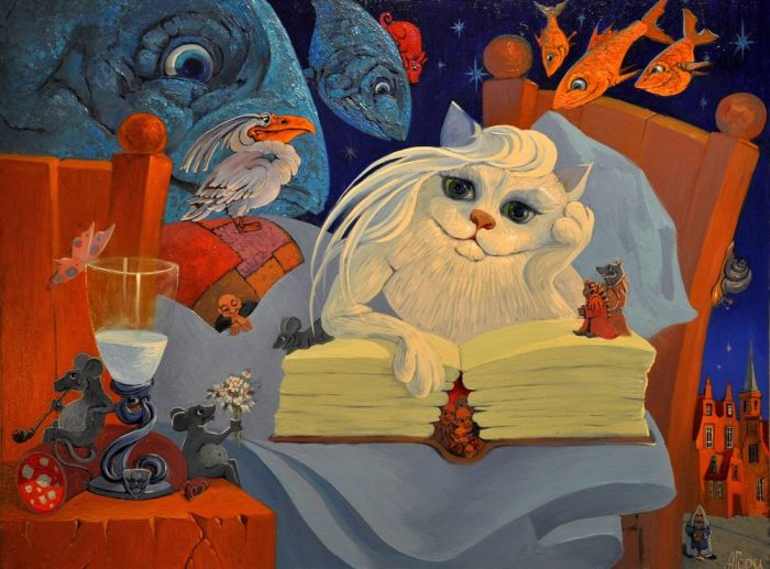 Кошачьи грёзы. Автор: Антон Горцевич.