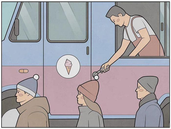 Продавец мороженого. Автор: Антон Гудим.