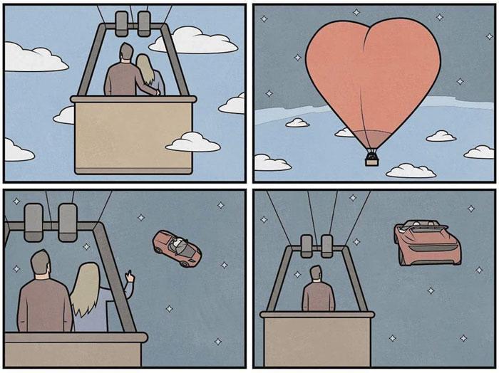 На большом воздушном шаре. Автор: Антон Гудим.