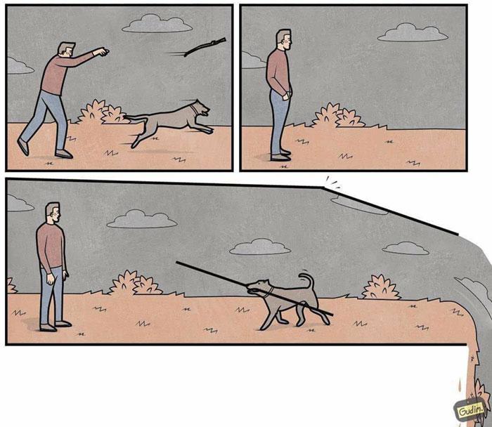 Сатирические иллюстрации о жизни. Автор: Антон Гудим.