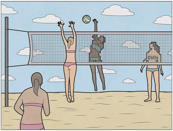 Волейбол. Автор: Антон Гудим.