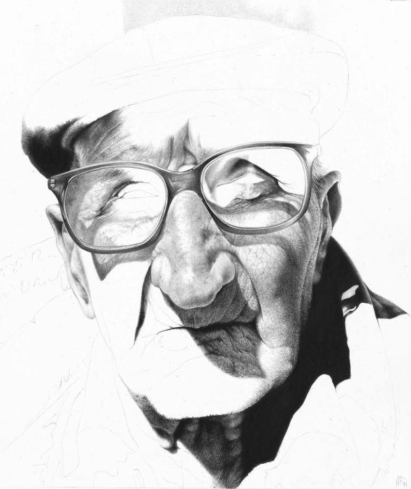 Монохромные портреты карандашом. Автор работ: художник Антонио Финелли (Antonio Finelli).