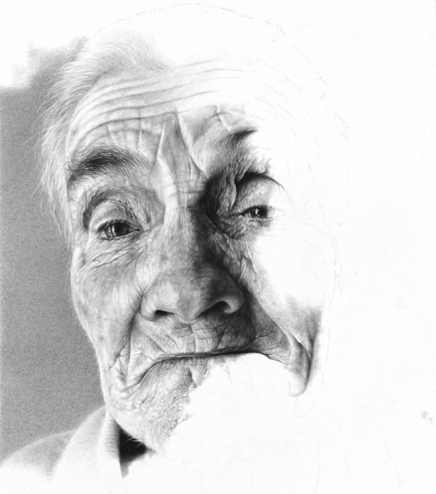 Карандашные портреты. Автор работ: художник Антонио Финелли (Antonio Finelli).