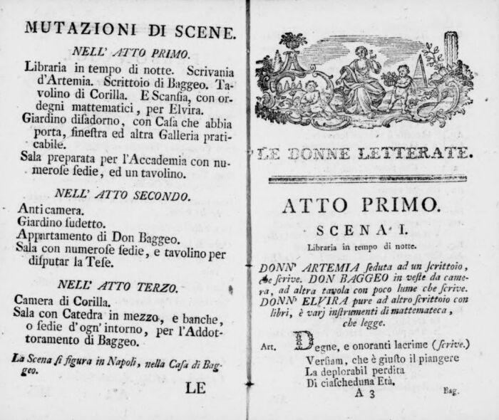 Учёные женщины, музыка Антонио Сальери, 1770 год. \ Фото: google.com.