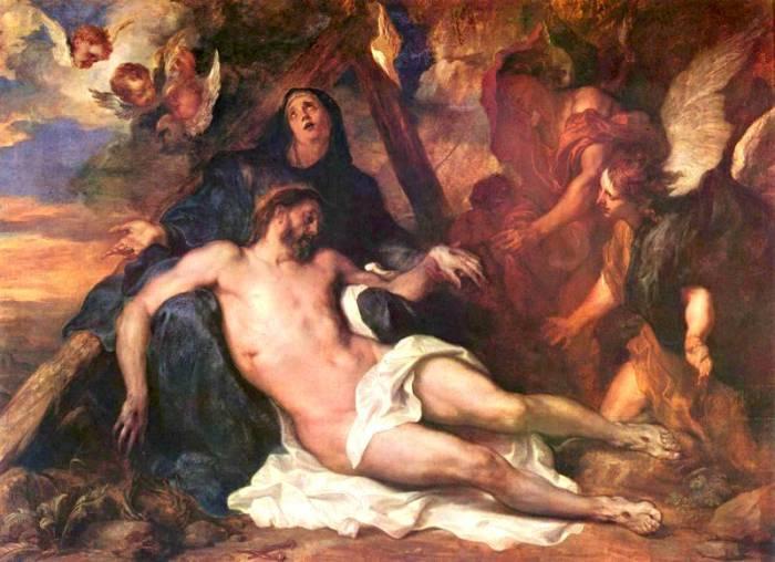 Оплакивание Христа, 1634 год.  Автор: Антонис ван Дейк (Antoon van Dyck).
