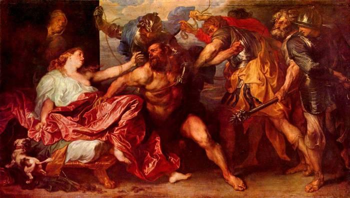 Самсон и Далила. Автор: Антонис ван Дейк (Antoon van Dyck).
