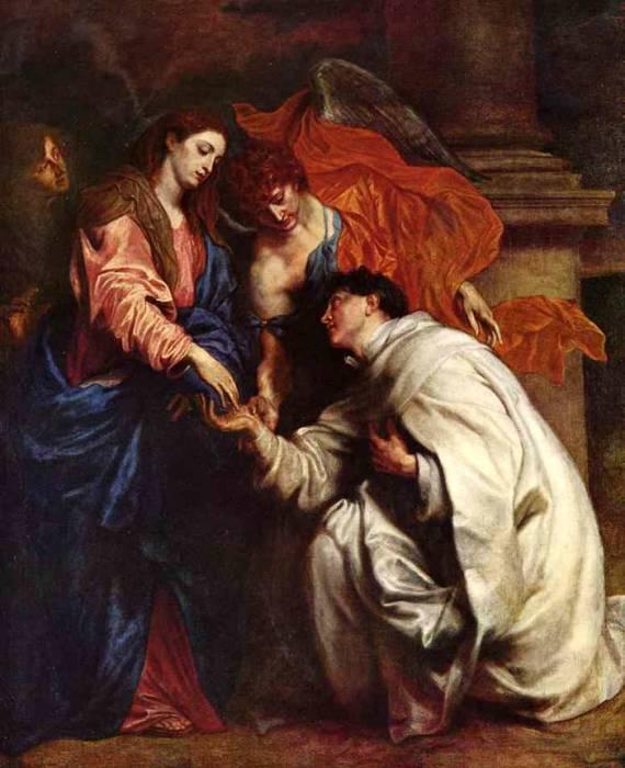 Видение блаженного священника Иосифа, приблизительно 1625 год. Автор: Антонис ван Дейк (Antoon van Dyck).