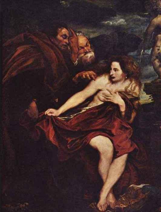 Сусанна и старцы. Автор: Антонис ван Дейк (Antoon van Dyck).